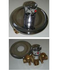 """Термостатический смеситель для восходящего или дождевого душа D 3/4"""" скрытый монтаж"""