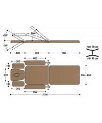 Массажный стол с механическим приводом FM3C
