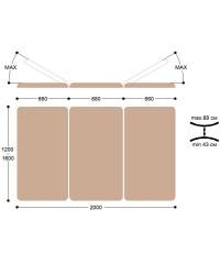 Массажный стол Титулус 3 секции - Стол Войта-Бобата