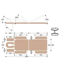 Массажный стол с электроприводом X103KP