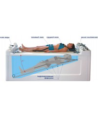 Акватракцион - гидромассажная ванна для вытяжения и подводного гидромассажа позвоночника